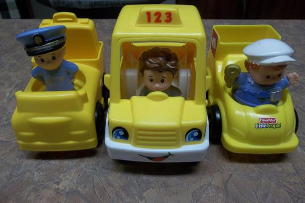 F.P. little people cars/trucks/train with drivers .( see other ads for more)