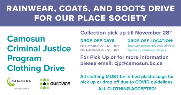 Ourplace/Camosun Clothing Drive