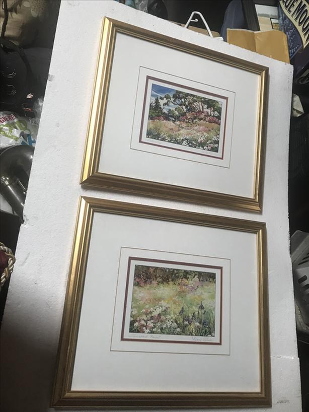 Set of 2 Nancy O'toole signed prints