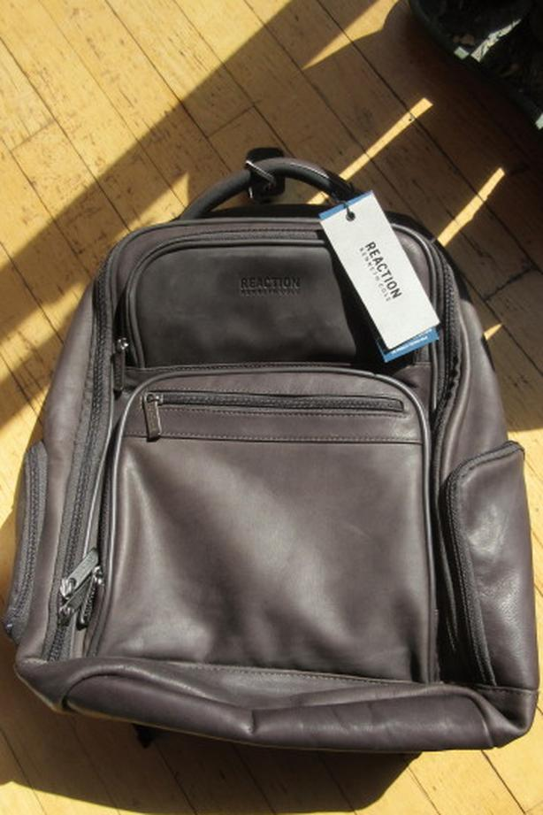 New Kenneth Cole Reaction Columbian leather backpack