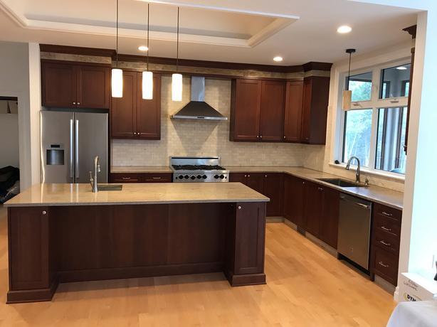 Cherry wood Kitchen cabinets