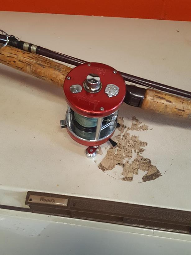 3 Red Ambassadeur rod and reel combos