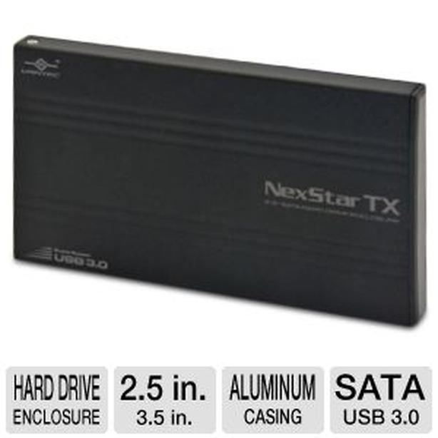 New NexStar TX 2.5″ Hard Drive Enclosure 2.5″ SATA to USB 3.0 - $22