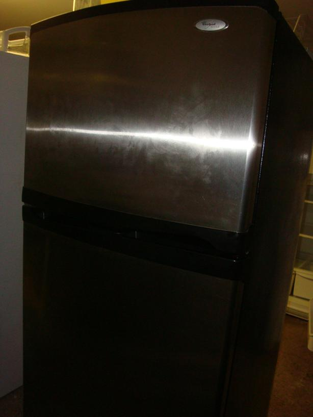 Whirlpool stainless steel fridge, stove and dishwasher