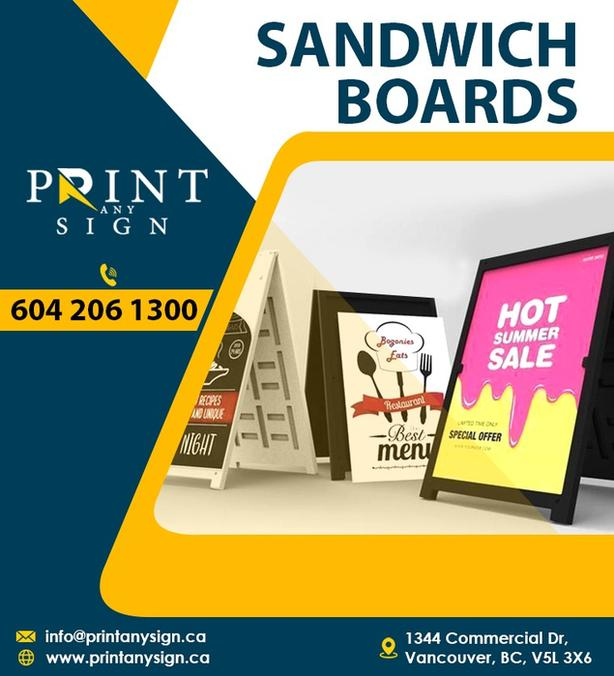 Sandwich Board & Sign Board Printing