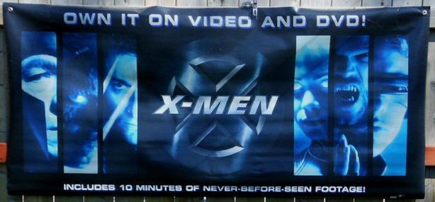 X-MEN *VINYL* PROMOTIONAL POSTER 3 feet by 6 feet !