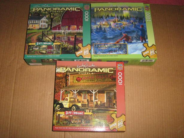 PANORAMIC  1000  PIECES  JIGSAW  PUZZLES