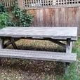 reclaimed fir picnic table