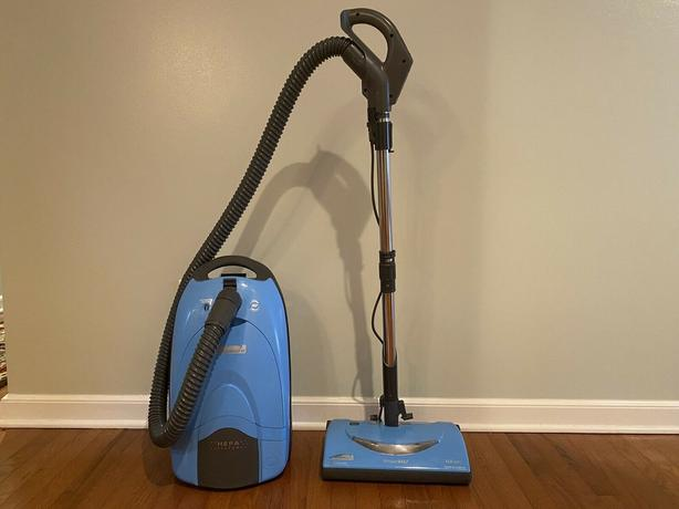 Kenmore canister vacuum.  HEPA filter and Power head