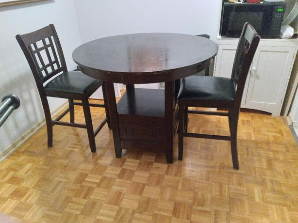 Two sets of table and chairs