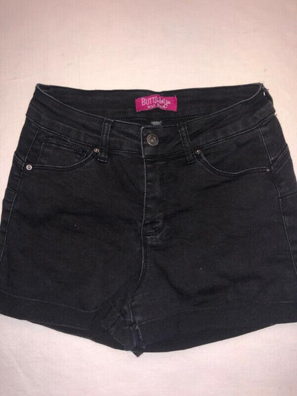 Women's Black Jean STRETCHY Shorts Size Small - Very Comfortable