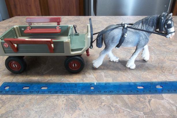 Schleich Wagon with Horse