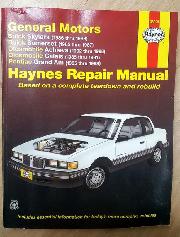 Haynes Repair Manual for General Motors Vehicles 1985 Thru 1998 Illustrated