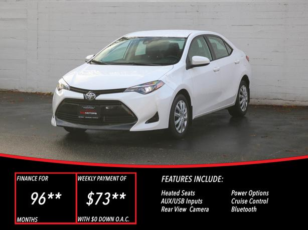 2018 Toyota Corolla LE - LOCAL BC SEDAN - NO ACCIDENTS!