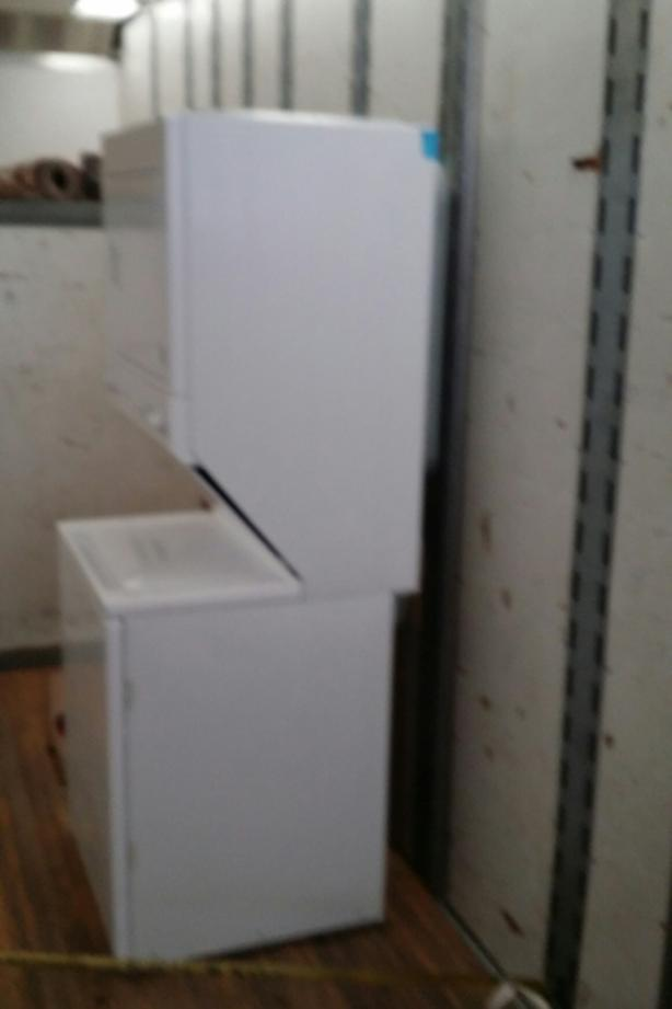 Stacked washer and dryer (laundry center )