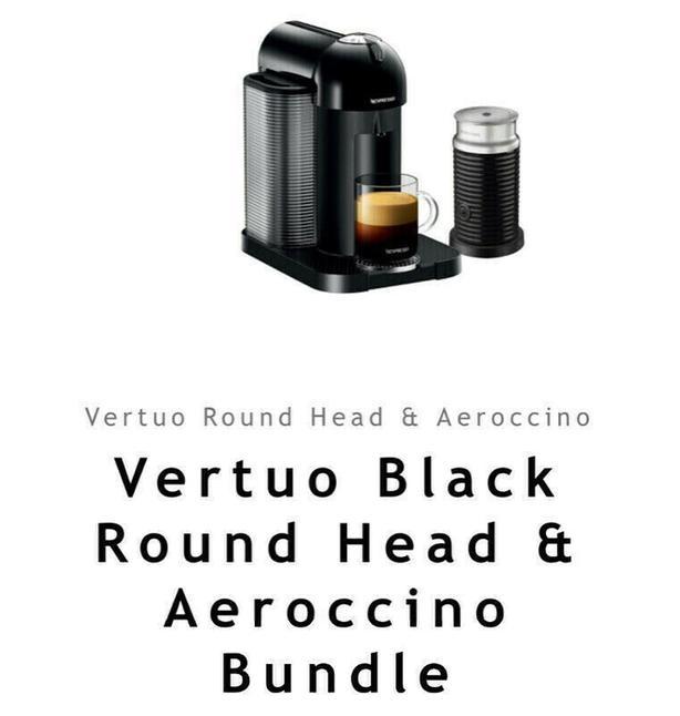 New Nespresso Vertuo Black Coffee Machine & Aeroccino 3