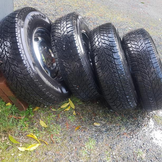 Set of Good Winter Tires on 6 bolt Wheels