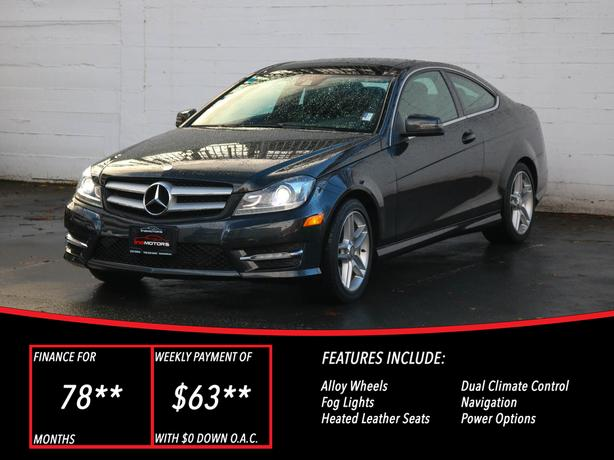 2013 Mercedes-Benz C250 - LOCAL BC COUPE!