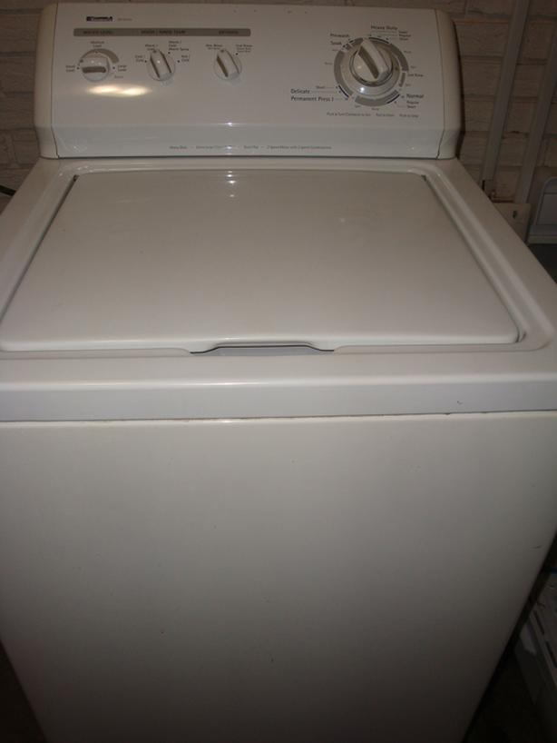 "Kenmore 24"" apartment size heavy duty extra large capacity plus washer,"