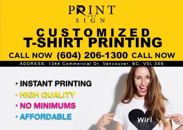 T-Shirts Designing & Printing