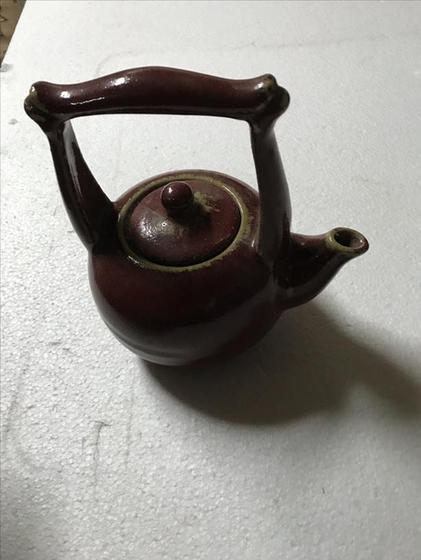 Clay earth tones tea pot