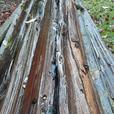 split cedar fence rails