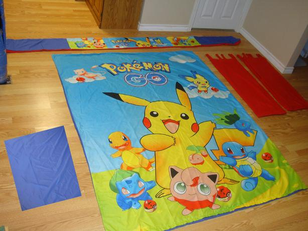 Like New 5 Piece Pokemon Bed Set Single - $75