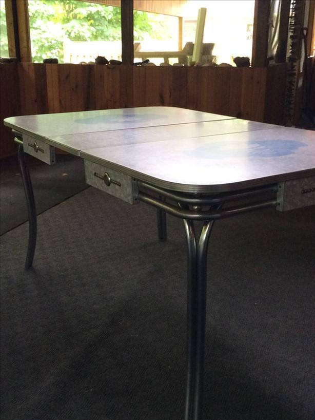 Mid-century Formica and Chrome Table