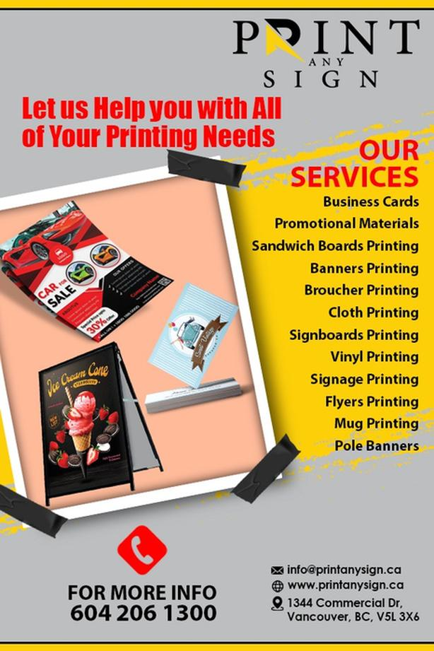 Print Any SIgn We Make Your Imaginations True