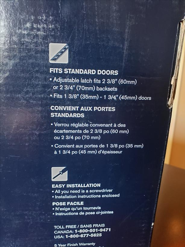 Daytona X Regina Front Door Handle Set Brass Weiser Safe Lock