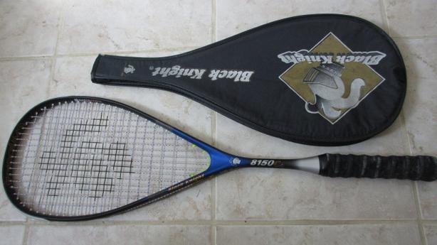 Black Knight graphite Titanium squash racket