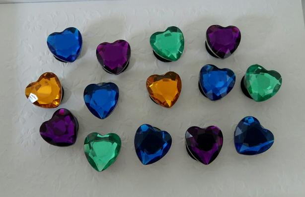 Heart Shoe Charms or Magnets