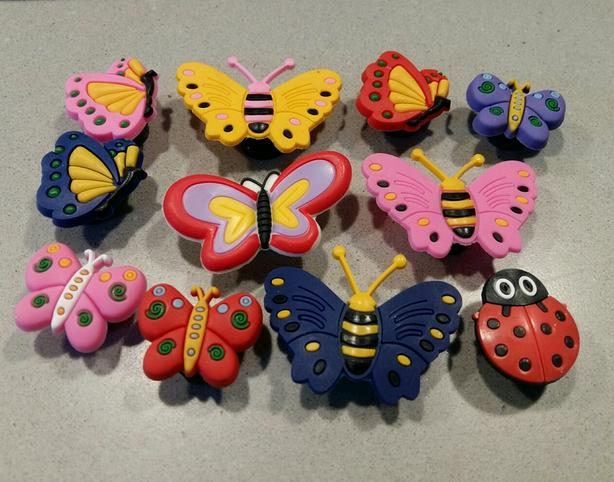 Butterfly Shoe Charms & Magnets