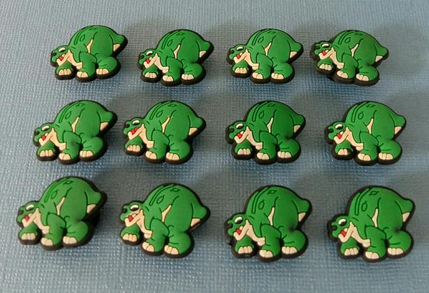Baby Dinosaur Shoe Charms & Magnets