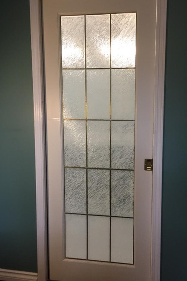 glass panel pocket door