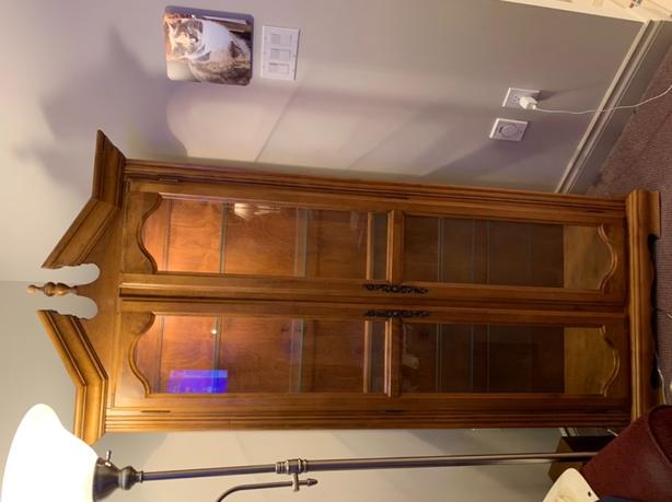 beautiful curios cabinet