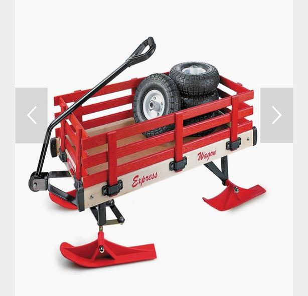 Red wagon or sled