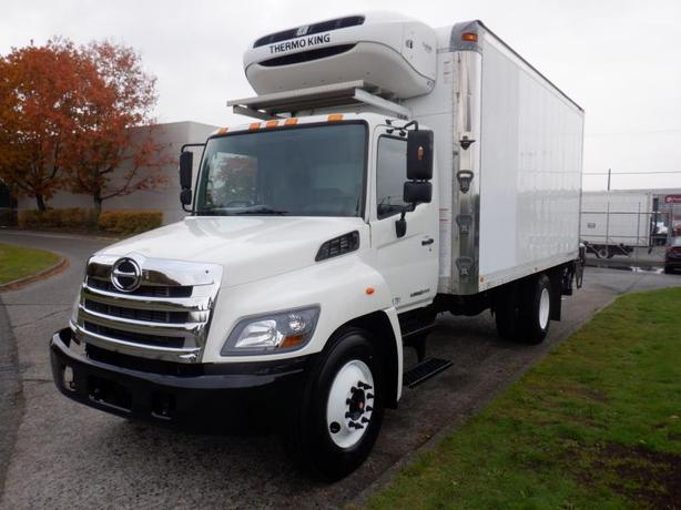 2013 Hino 268 18 Foot Diesel Cube Van with Reefer and Power Tailgate