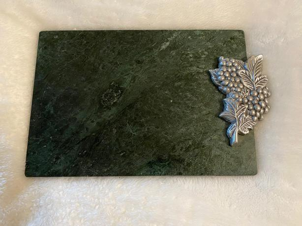 MARBLE & PEWTER CHEESE/CUTTING BOARD