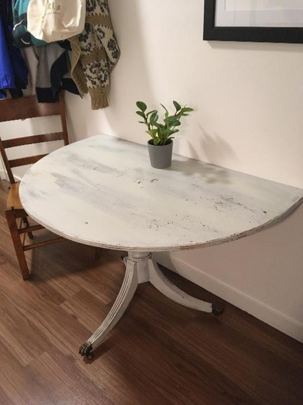 half table for a small space