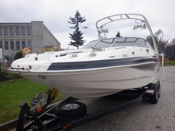 2009 Larson Escape 254 Deck Boat with Trailer