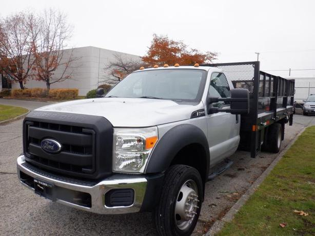 2012 Ford F-550 Flat Deck 16 foot Regular Cab Dually 2WD Power Tailgate