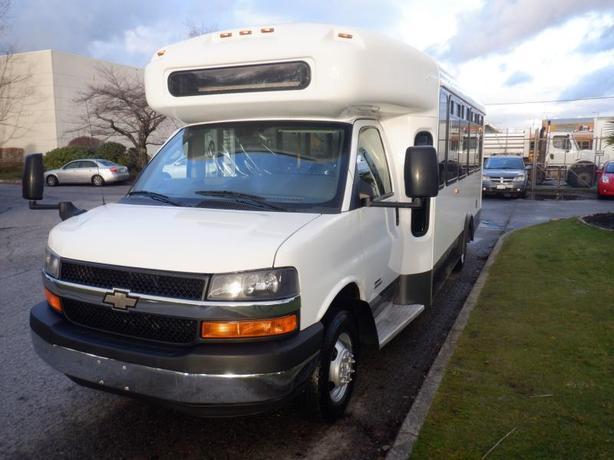 2013 Chevrolet Express G4500 17 Passenger Bus Diesel with Wheelchair Accessibili