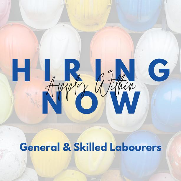 Hiring ALL Construction Positions -- Immediate Starts Available
