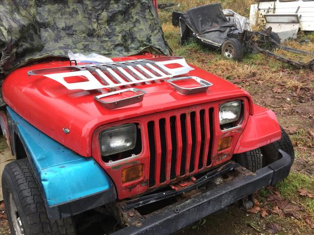 Jeep YJ & TJ hoods, grills fenders etc