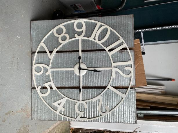 Farmhouse galvanized wall clock