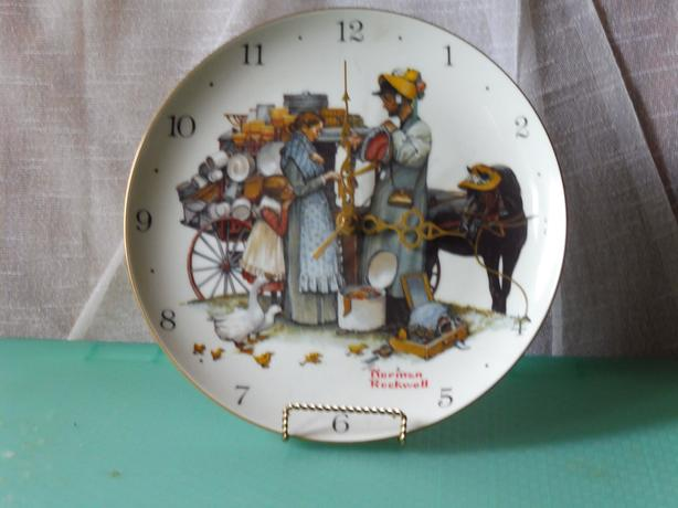 Norman Rockwell Clock