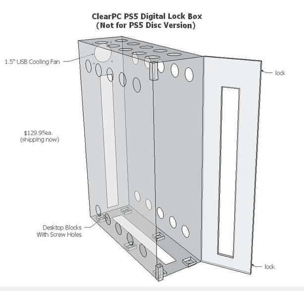 ClearPC Sony PS5 Security Lock Box