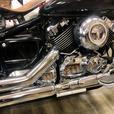 """Custom V-Star 650 Bobber, 12"""" Apes, Black & Chrome, Vance & Hines pipes"""
