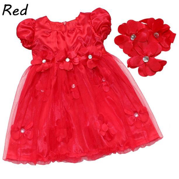 FANCY RED BABY DRESS (#95)